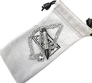 HOLANTON Constantine Bullet Pendant Necklace Urn Memorial Jewelry Ash Pill Filler Kit Stainless Steel