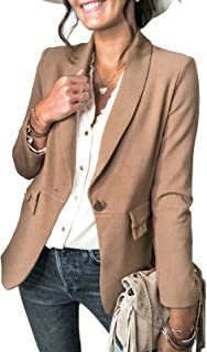 Sponsored Ad - Sidefeel Women Casual Blazers Open Front 3/4 Sleeve Ruched Cardigan Work Office Suit Jacket