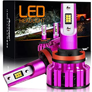 AutoFeel Two-Tone H11(H9/H8) LED Headlight Bulb, 7200 Lumens 6000K/3000K Cool White Combo Amber All-in-one Conversion Kit, 2 Year Warranty