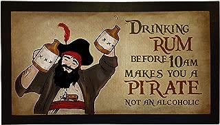 Bar Runners Rum Pirate Home or Pub Bar Mats Mens Gift Idea