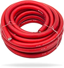 InstallGear 1/0 Gauge Red 25ft Power/Ground Wire True Spec and Soft Touch Cable