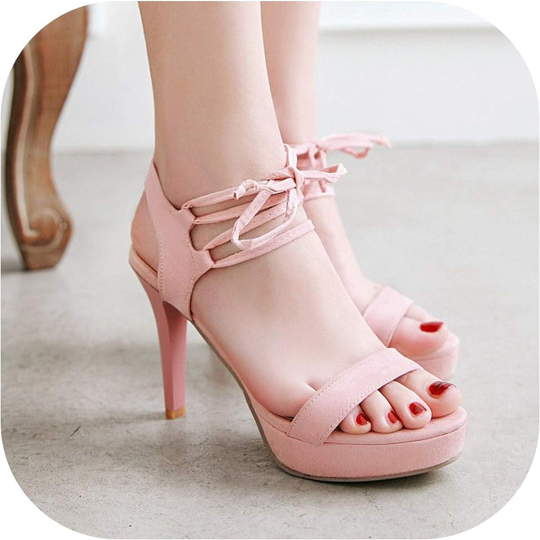 cc5467cdf0 New Sexy High Heel Frenulum Rome Sandals Womens Waterproof Platform Fine Heel  Women's Sandals