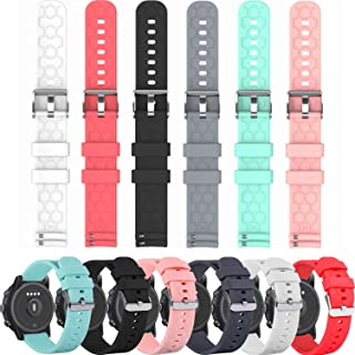 E ECSEM Compatible with Polar Unite Bands Replacement Accessory Sport Colourful Silicone Bracelet 6Pack Strap Arm Band for...