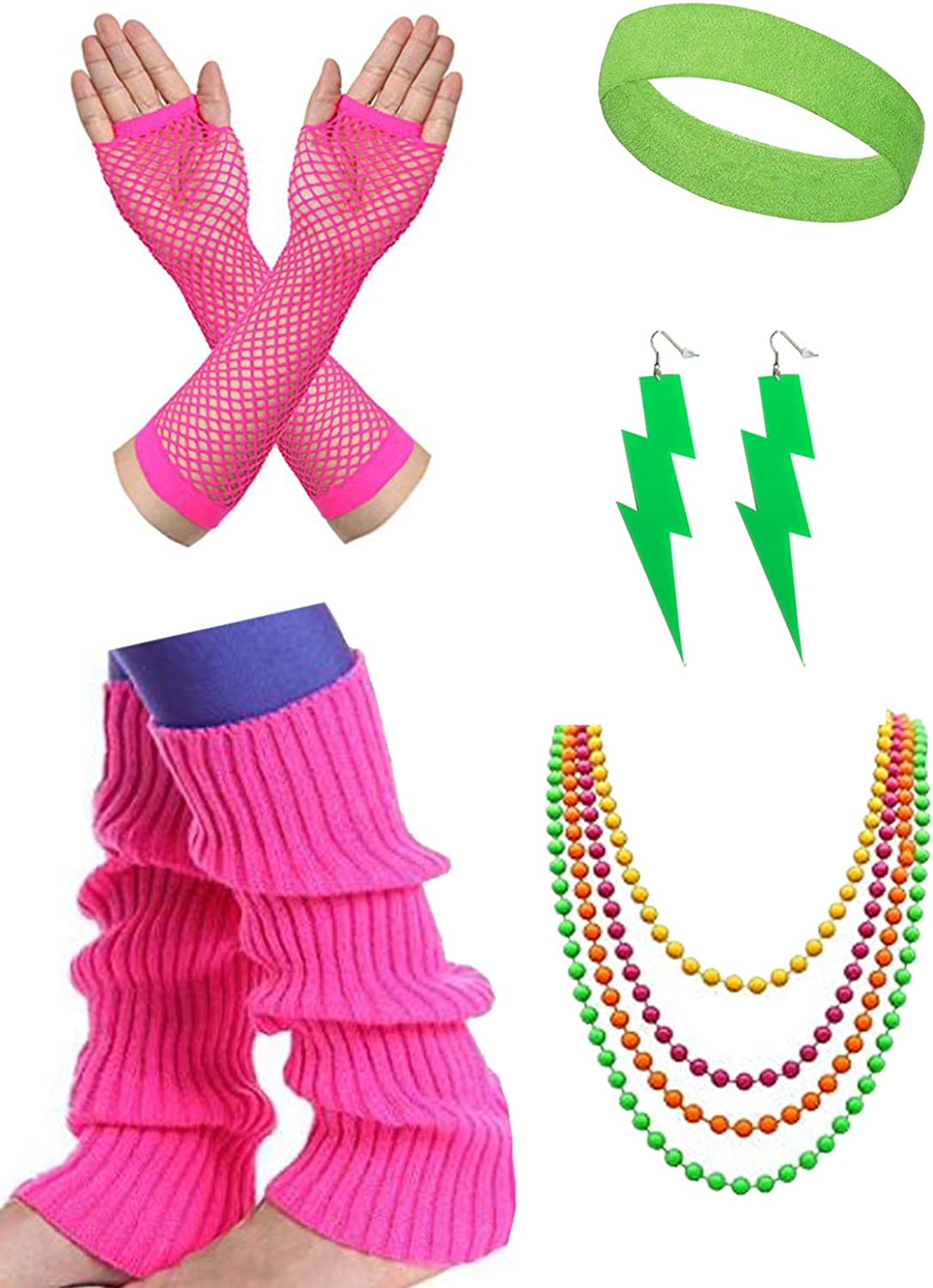 malishow 80s Neon Leg Warmers Outfit Super Special SALE held fo Costume supreme Accessories 80's