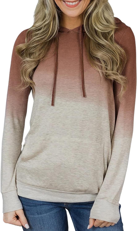 Dearlove Womens Color Block Tie Dye Print Long Sleeve Hoodie Loose Pullover Sweatshirt Tops with Pockets Gray 2X-Large