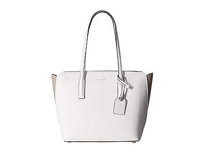 Kate Spade New York Margaux Medium Tote (Optic White Multi) Handbags