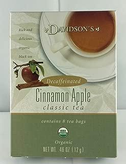 Tea Bag Box of 8 Organic, Cinnamon Apple Decaf