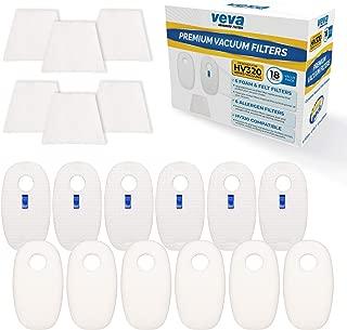 VEVA Premium Vacuum Filter Set with 6 Allergen, 6 Foam, 6 Felt Filters for Shark Rocket Vacuums Model HV319Q, 320, 321, 322, 324, 325 and UV330, 422