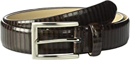 32 mm Genuine Leather Lizard Belt