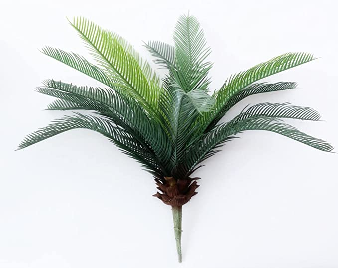 Amazon.com: Artifical Tree,Artifical Plant,Fake Trees for Outdoor and Indoor,Tropical Palm Tree Artificial Flowers Plastic Fake Plant Bouquet for Jungle Party Apartment Decorations Faux Foliage L-48Cm : Home & Kitchen