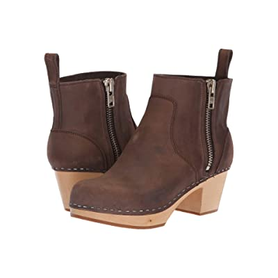 Swedish Hasbeens Zip It Emy (Chocolate Nubuck) Women