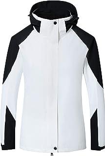 Women's 3-in-1 Winter Warm Waterproof Mountain Raincoat Windbreaker Snow Coat Hooded Ski Jackets