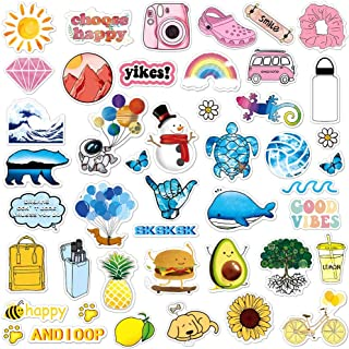 ANERZA VSCO Stickers for Hydro Flask, Colorful Vinyl Waterproof Water Bottle Stickers for Hydroflasks, Laptop, Phone, Cute Trendy Aesthetic Stickers for Teens, Girls, VSCO Girl Stuff(45pcs)