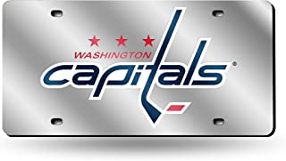 Rico Industries Washington Capitals Silver Laser License Plate