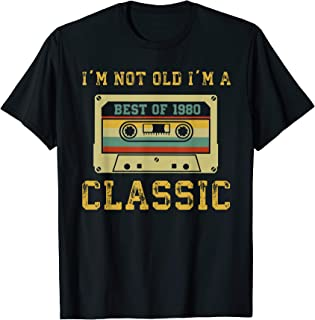 Vintage Cassette I'm Not Old I'm A Classic 1980 39th T-Shirt