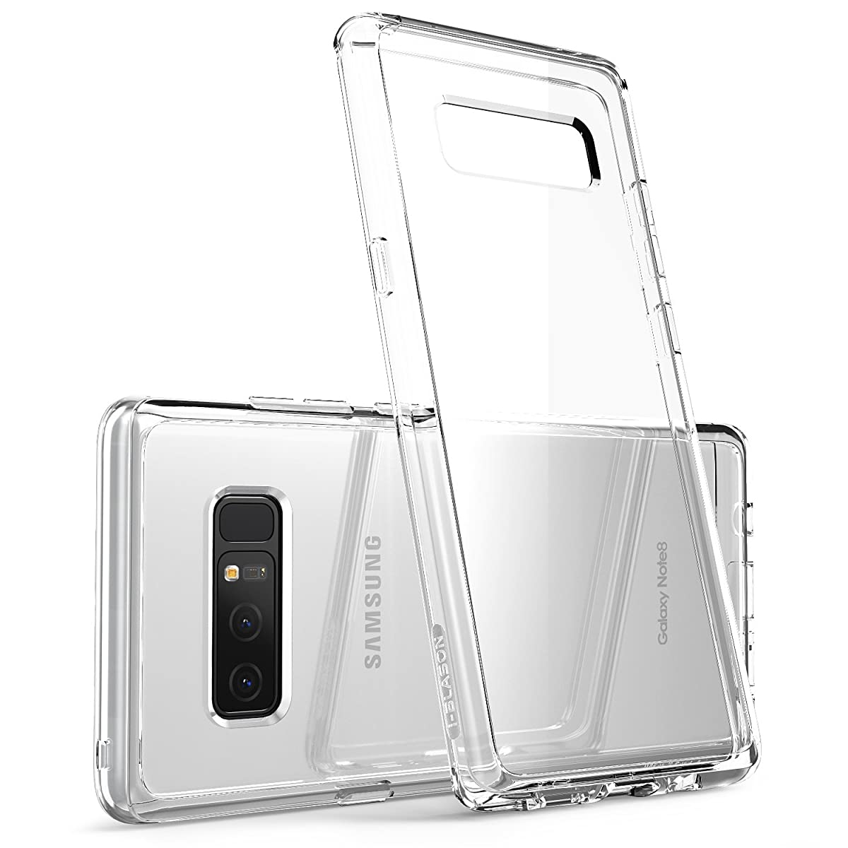 i-Blason Case for Galaxy Note 8 2017 Release, [Scratch Resistant] Clear [Halo Series] Hybrid Bumper Case Cover (Clear)