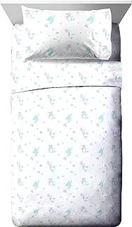 Jay Franco Disney Little Mermaid Make A Splash Twin Sheet Set - 3 Piece Set Super Soft and Cozy Kid's Bedding Features Ariel - Fade Resistant Microfiber Sheets (Official Disney Product)