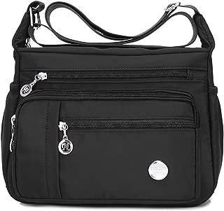 Waterproof Nylon Shoulder Crossbody Bags - Handbag Zipper Pocket