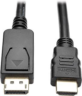Tripp Lite DisplayPort to HDMI Active Adapter Cable, DP with Latches to HDMI (M/M), UHD 4K x 2K/1080p, 6 ft. (P582-006-V2-ACT),Black