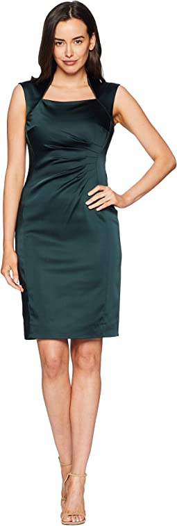 Satin Shirred Sheath