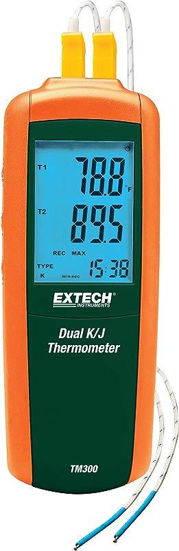 Extech TM300 Dual Type K J Input Thermometer