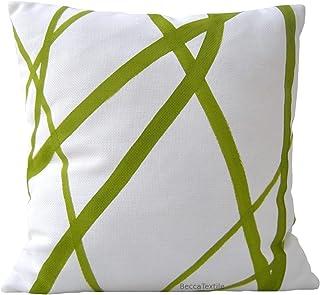 Cojín de rayas verdes,40 x 40 cm y medidas personalizadas .BeccaTextile.