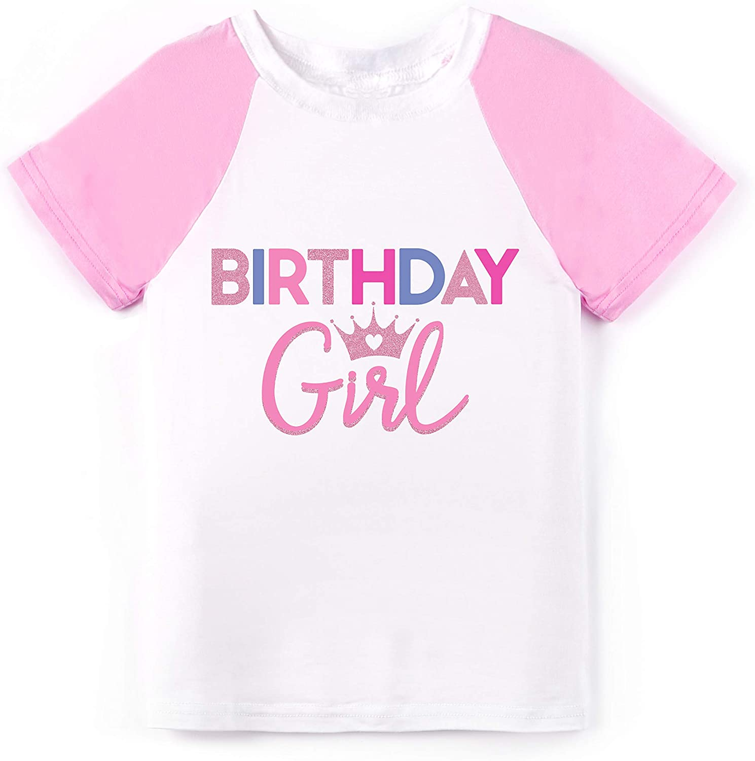 Wild and Happy Birthday Girl Princess Tshirt for Kids Party Shirt Ultra Soft Tees
