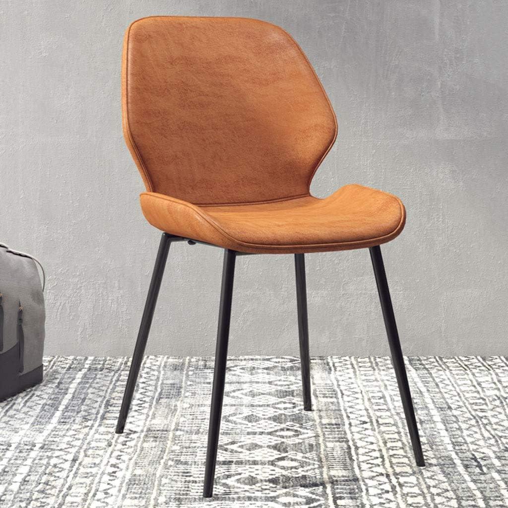 HEJINXL Chaises Cuir PU Réception Luxueuse Fer Forgé Pieds Antidérapants Chaises Salle Manger Innovant Bureau Chaise Réunion Hôtel Chaises Salle (Color : D) B