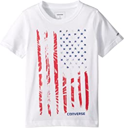 Converse Kids Tie-Dye Flag Tee (Toddler/Little Kids)