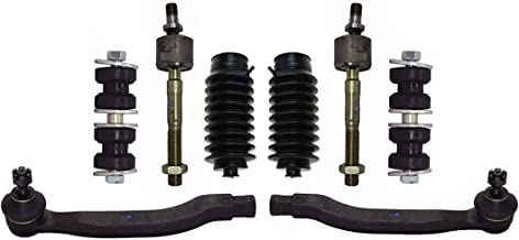 PartsW 8 Pc Front Suspension Kit for Acura CL, Honda Accord, Honda Odyssey, Isuzu Oasis/Inner & Outer Tie Rod End, Rack & Pinion Bellow Boots, Sway Bar End Link