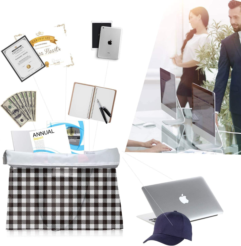 BeeGreen Black File Folder with Handles Inside Zippered Pocket Waterproof Document Bags for Men /& Women Multi-Purpose Hanging File Folder Black Cute File Pockets 1 Pack