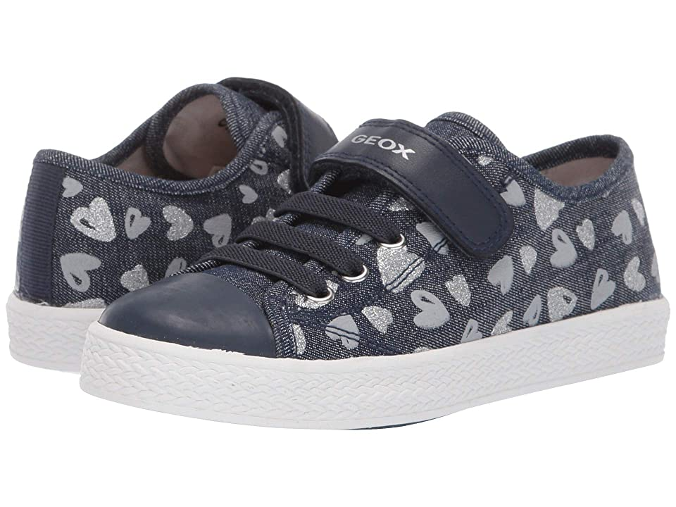 Geox Kids Ciak Girl 65 (Little Kid) (Avio/Silver) Girl