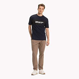 TOMMY HILFIGER Men's Pure Organic Cotton Logo T-Shirt