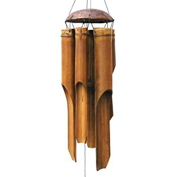 Cohasset Gifts 134 Cohasset Bamboo Wind Chime, Large Plain Antique
