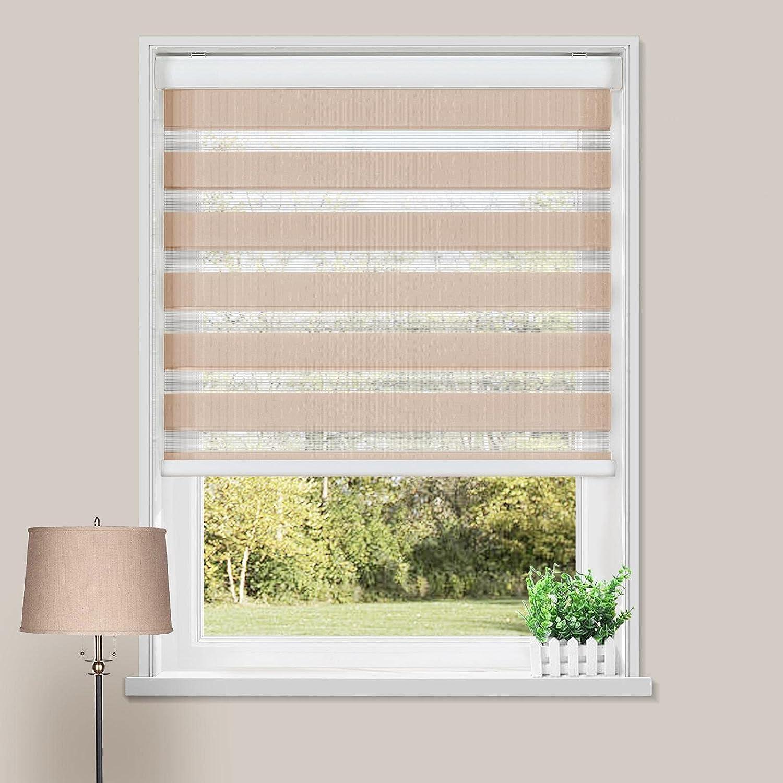 ChadMade Cordless Customized Zebra Shade Window Blind Room Darke
