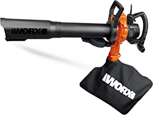 4. WORX TURBINE 12 Amp Corded Leaf Blower with 110 MPH and 600 CFM Output and Variable Speed Control – WG520
