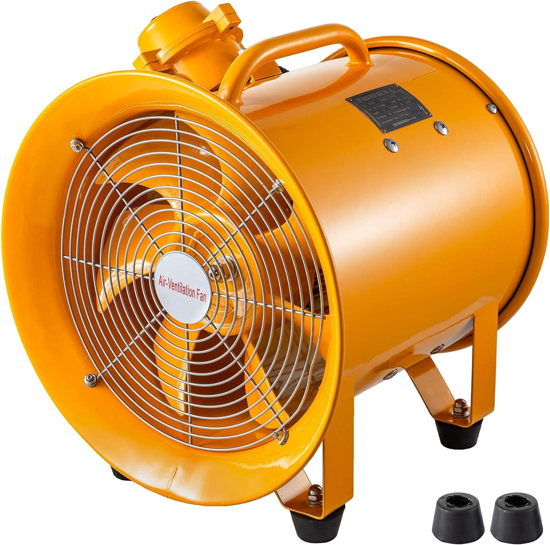Ventilador Industrial Portátil ATEX 300mm Ventilador Profesional para Construcción 500W 2,920RPM Ventilador Portátil de Piso Industrial a Prueba de Explosión para Industriales y Construcción