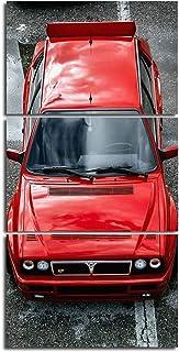 Quadro trittico Lancia Delta Integrale- 160X80 Cm
