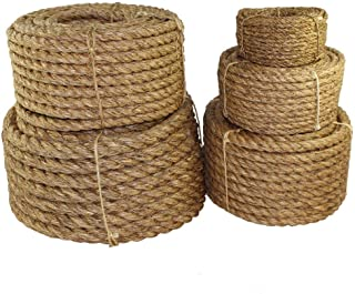SGT KNOTS Manila Rope | Size 1/4-3 inch | Length 10-1200 ft | Tan Rope/Brown Rope –..