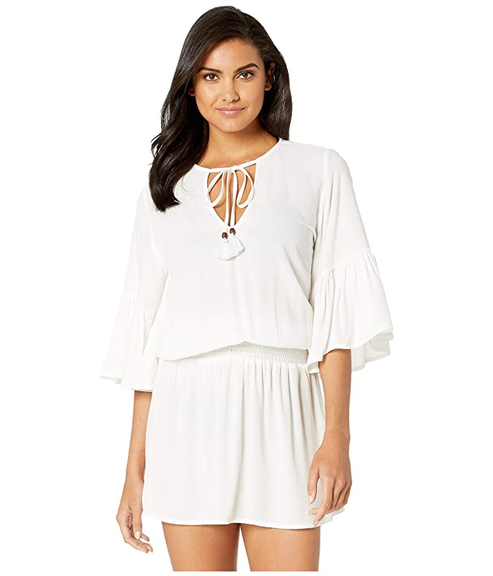 Maaji Here We Go Go Dress Cover-Up (White) Women