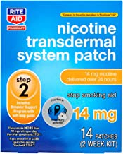 Rite Aid Nicotine Transdermal System Patch, Step 2, 14mg - 14 ct, Nicotine Patches Step 2   Quit Smoking, Quit Smoking Aid   Nicotine Patch   Bonus Behavioral Support Program Information Included