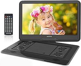 """WONNIE 17.5"""" Tragbarer DVD-Player mit 15.6 Zoll Rotation Bildschirm 1366×768.."""