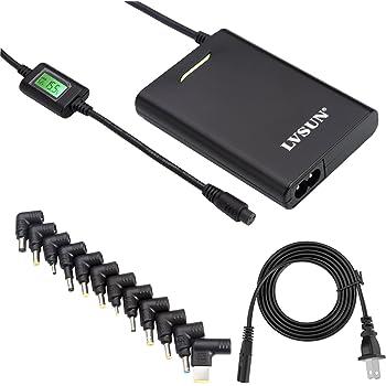 45W薄型万能電源ACアダプタ9.5V ASUS, 10.5V Sony, HP 19V, Dell 18V,Acer 19V,  Dell 18.5V 等に対応