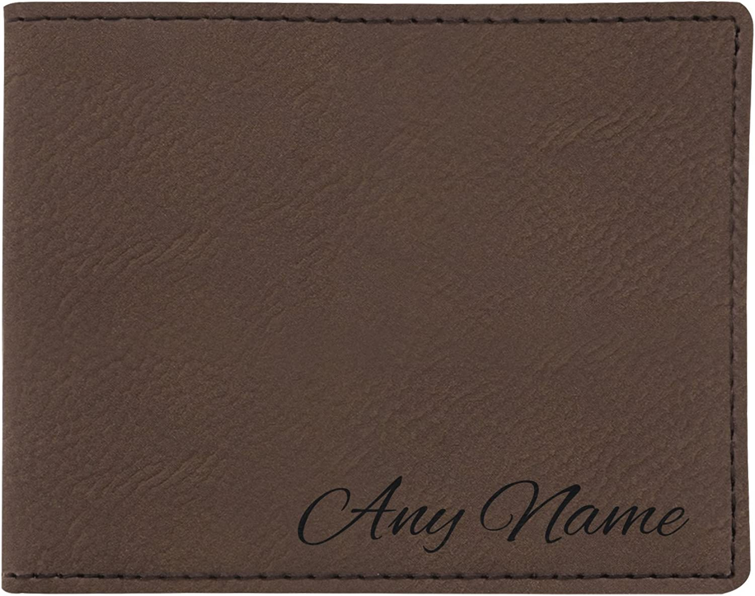 Personalized Wallet Your Name Custom Laser Engraved Leatherette Bifold Wallet