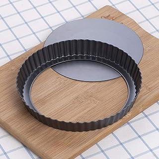 Tart Pan, Quiche Pan, Non-Stick Removable Loose Bottom Carbon Steel 10In Tart Pan, Carbon Steel With Non-Stick Surface Coa...