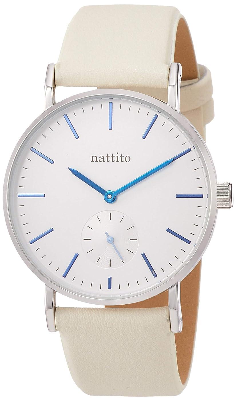 不均一投げるクルーズ[フィールドワーク] 腕時計 アナログ スモセコ 革ベルト スモールセコンド AB008-1 メンズ クリーム
