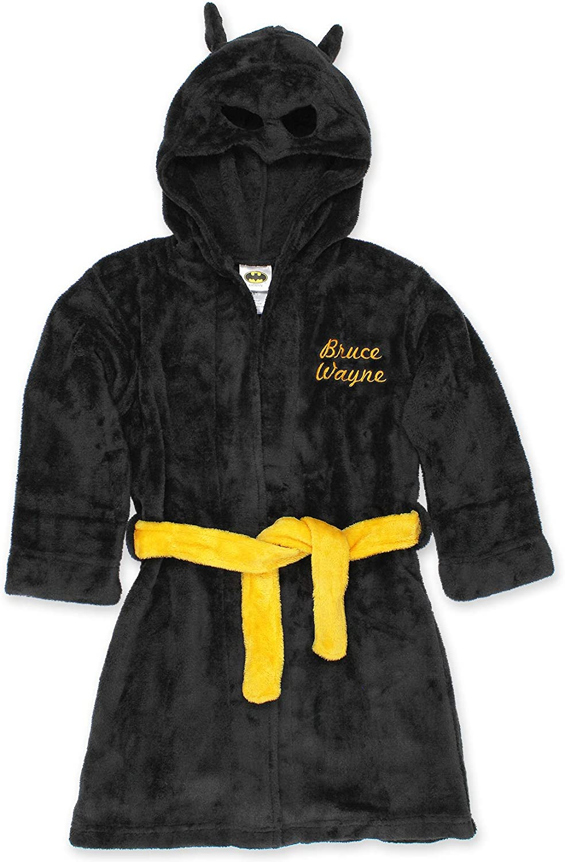 Batman Boys Fleece Hooded Bathrobe Robe: Clothing, Shoes & Jewelry