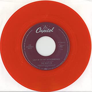 Beatles Lucy in the Sky with Diamonds / When I'm 64 Juke BOX 45 Red Vinyl