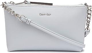 Calvin Klein Womens H7DE12CR Hayden Key Item Saffiano Top Zip Chain Crossbody