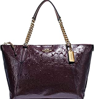 SALE! New Authentic COACH Patent Leather ELEGANT Merlot, Dark Wine, Burgundy Shoulder Tote Bag
